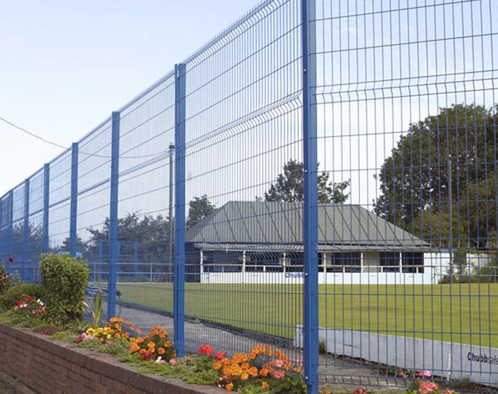 Blue color welded mesh fence