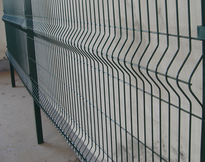 Ral6005 welded mesh fence
