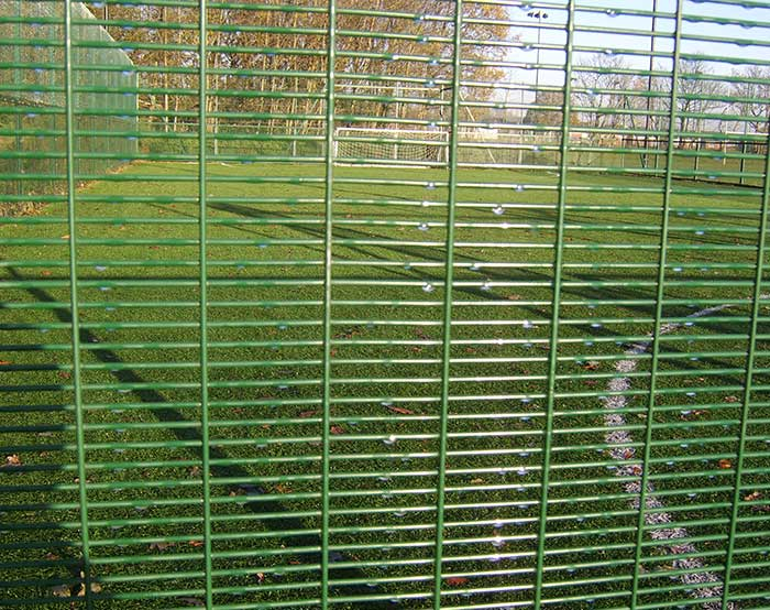 Green color high security fence