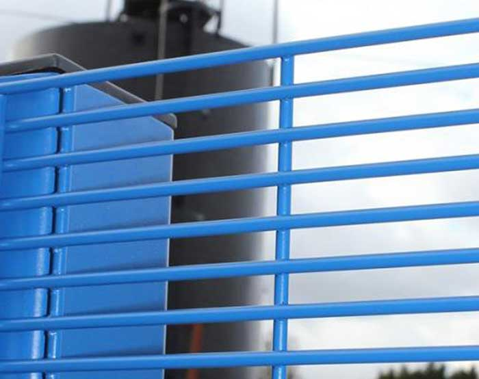 Blue color high security fence