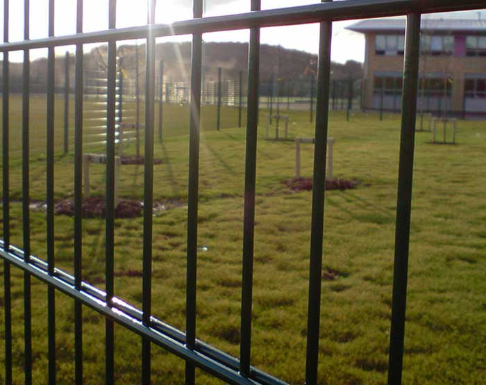 Double wire fence for playground