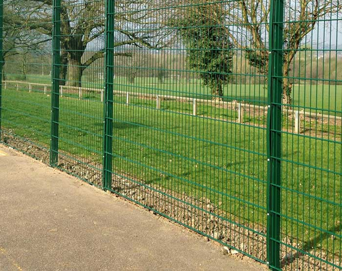 Double wire fence for park
