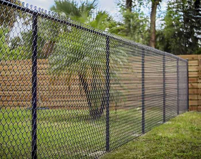 Chain link fence for yard