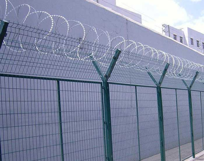 Airport fence for highway