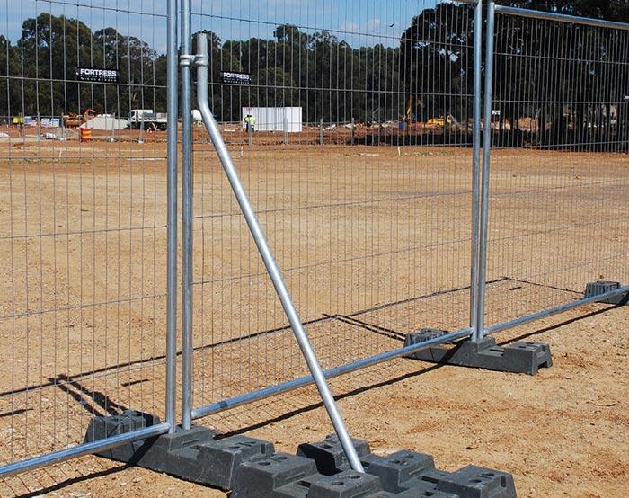 Galvanized temoprary fence