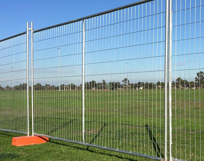 Temporary fence for Australian