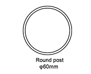 A: Round post