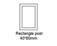 B: Rectangle post