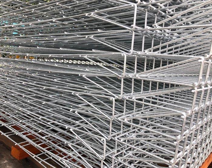 Galvanized BRC fence panel