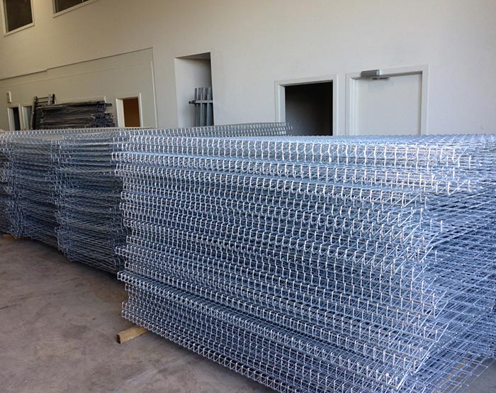 Galvanized BRC fence panel