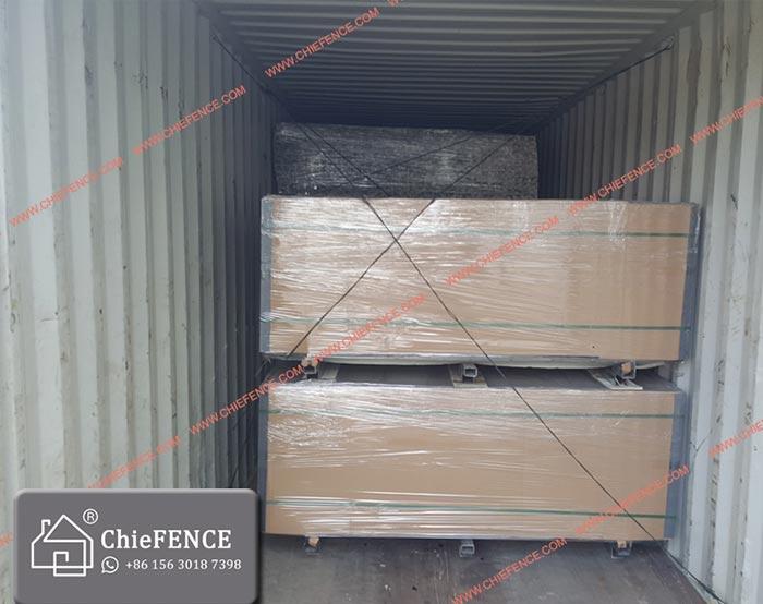 Straight panel shipping