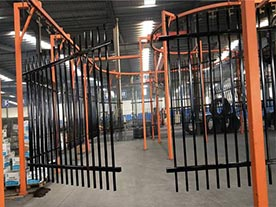 Steel Fence Panel Powder Coating