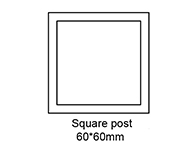 B: Square post