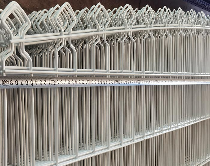 White color Double wire fence