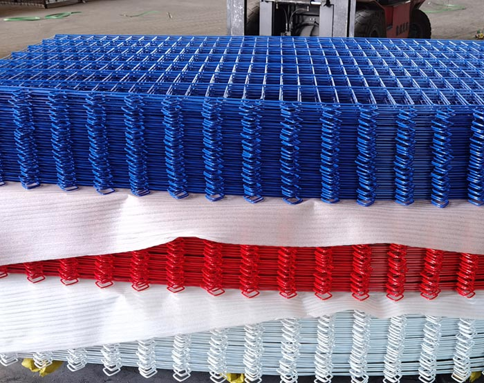 Blue color Double wire fence