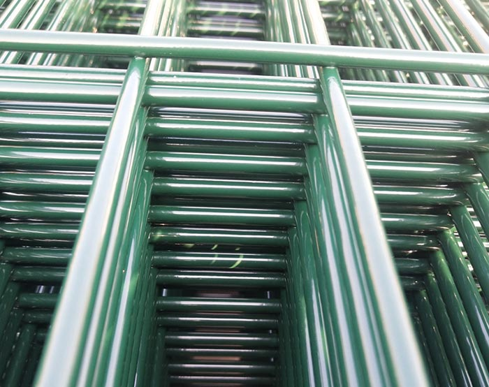 Green color Double wire fence