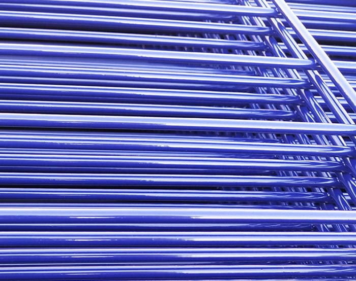Ral5005 Blue color Double wire fence